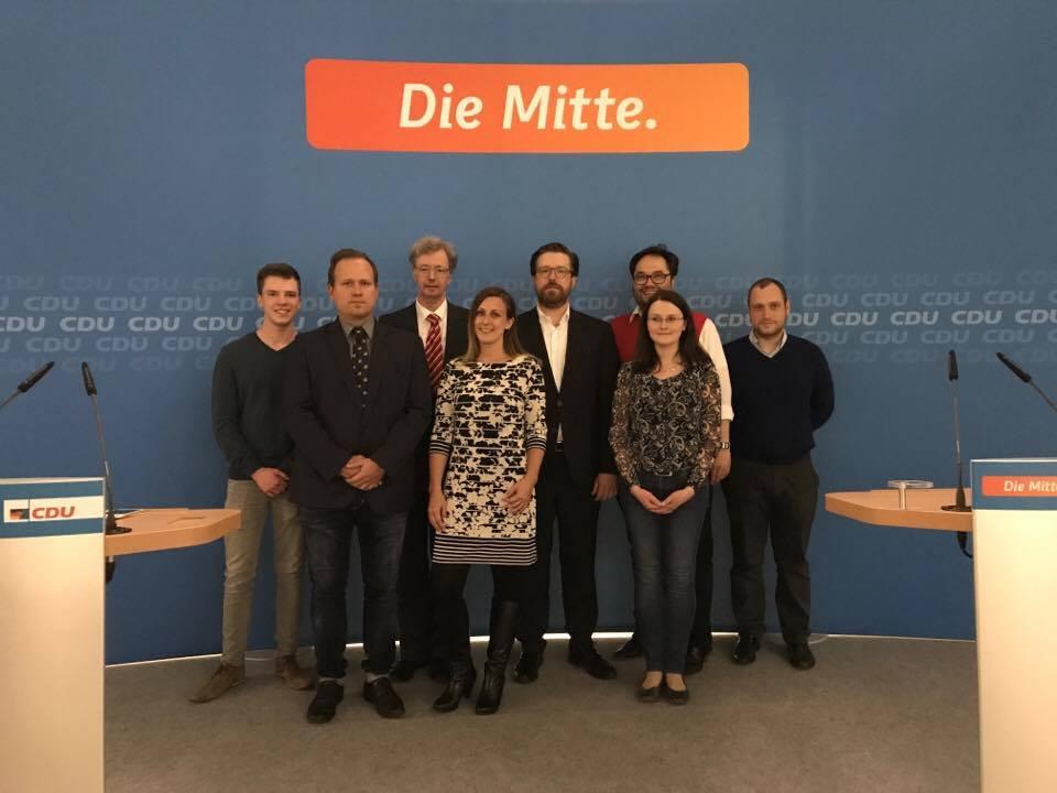 Ein Teil des CDA Kreisvorstands mit dem neuen CDU Kreisvorsitzenden Sven Rissmann, MdA